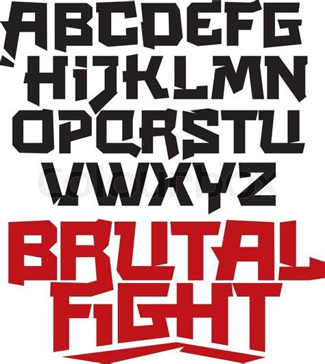 typography japanese cool modern type asian japanese typeface martial arts