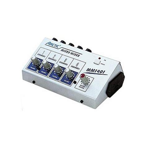 Mixer Audio 4 Ch mm 1401 4 channel line mixer