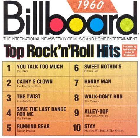 billboard top rock & roll hits: 1960 various artists