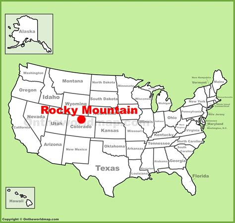 rocky mountains on map rocky mountain national park location on the u s map