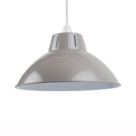 grey 350mm 14 quot industrial metal coolie ceiling light shade