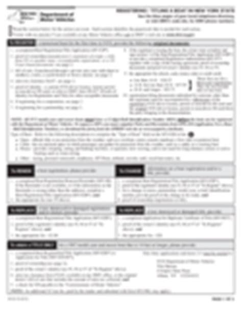 nys dmv boat registration transfer ny dmv registration and title 36 free templates in pdf