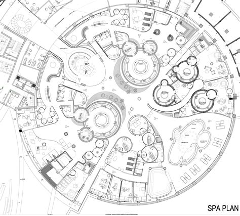 Spa Layout Plan Drawing | gallery of eskisehir hotel and spa gad architecture 25