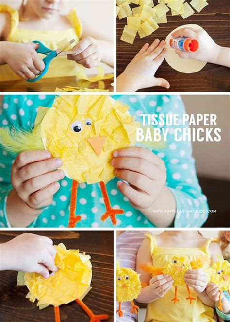 tissue paper easter crafts 40 simple easter crafts for one project