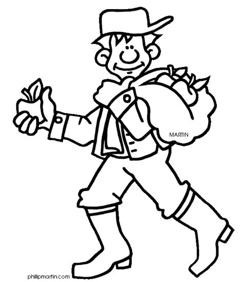 coloring pages johnny appleseed johnny quot appleseed quot chapman coloring sheet school
