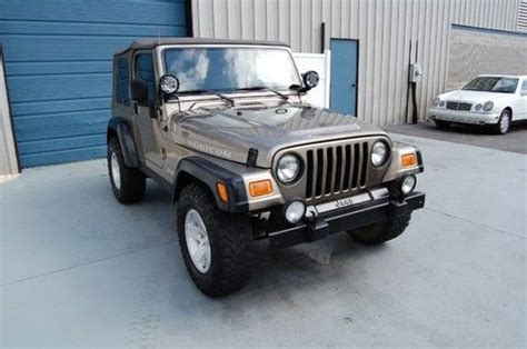Jeep Wrangler Lockers Sell Used Wty 2004 Jeep Wrangler Rubicon 4wd Lockers Suv