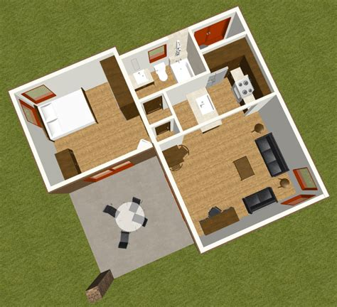 modern guest house plans studio600 modern guest house plan d61 600 the house plan site