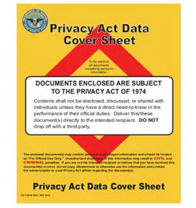 12 privacy act cover sheet templates free sample
