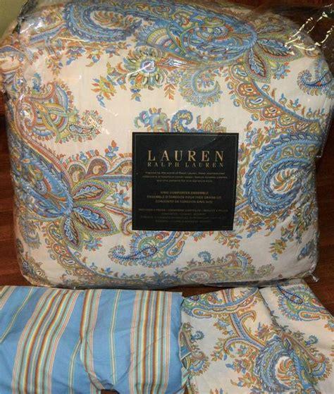 ralph lauren paisley bedding ralph lauren marion paisley blue king comforter set new