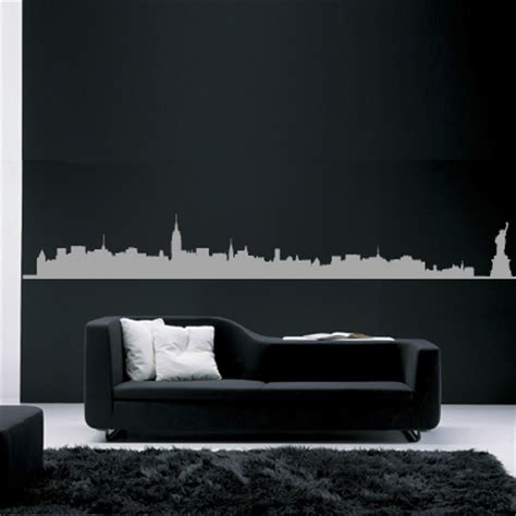 new york skyline bedroom ideas hu2 wall stickers paint your walls cool