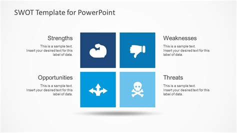 template for swot analysis powerpoint simple swot powerpoint template slidemodel