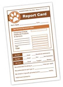 pet grooming report cards for dog groomers
