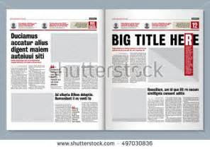 Modern Newspaper Template by Graphical Design Newspaper Template Letters Stock