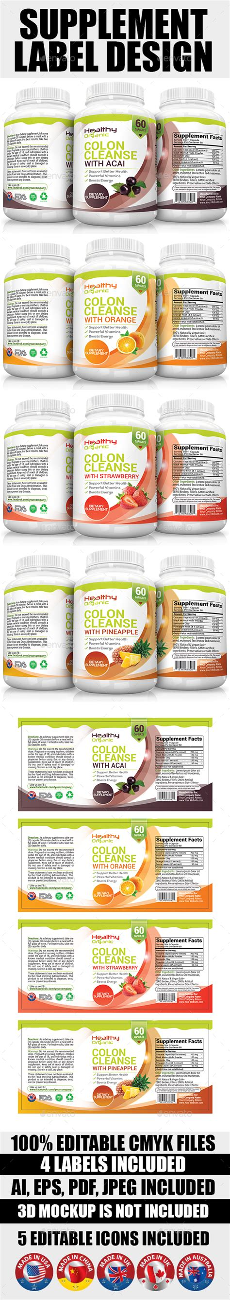 supplement label template supplement label template vol 08 by artsoldiers graphicriver