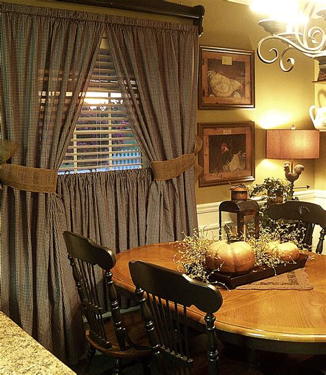 primitive curtains for living room getting ready for fall country primitive pinterest