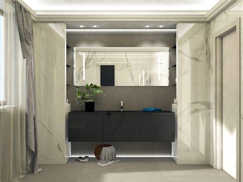 illuminazione bagno moderno bagno moderno ed elegante grandi lastre ed illuminazione