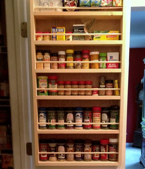 rack kitchen cabinet spice rack on inside of pantry doors ideas for the