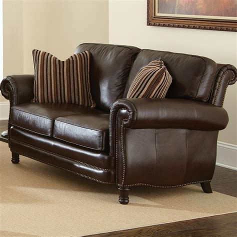 Chateau 3 Piece Leather Sofa Set Antique Chocolate Brown Chateau Leather Sofa