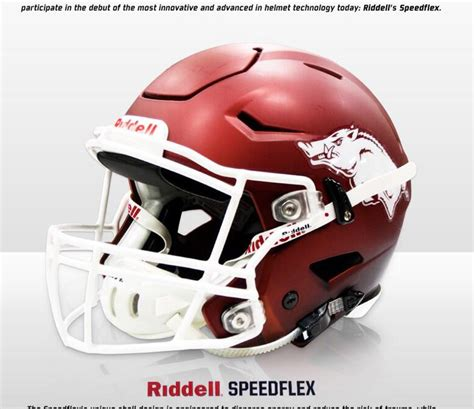 Football Helmet Design And Concussions | arkansas sporting new speedflex helmets to help reduce