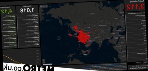 real time map shows spread  coronavirus