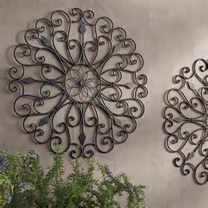 outdoor iron wall decor gracie iron wall grandin road traditional