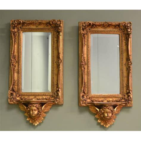 unusual mirrors unusual pair of antique decorative gilt mirrors antiques