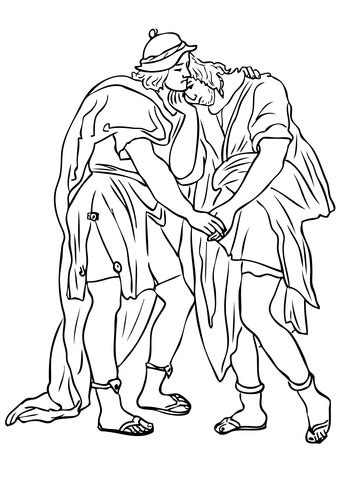 Jonathan and David Friendship coloring page – Best Draws