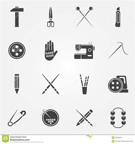 crafts stock images royalty free images vectors hand made vector icons set stock vector image 53825650