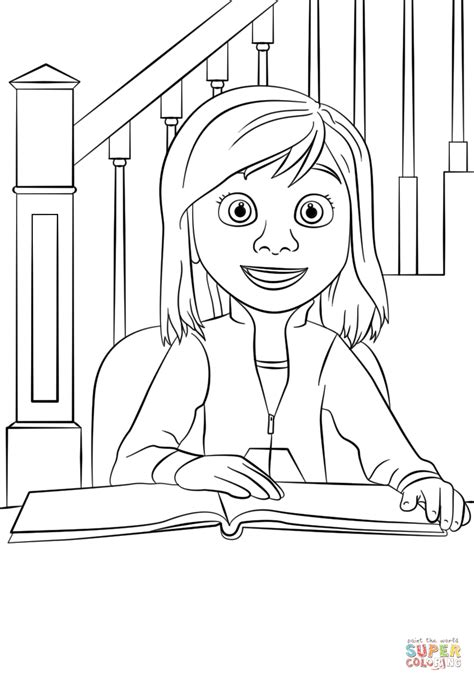 Inside Out Coloring Pages Riley | inside out riley coloring page free printable coloring pages
