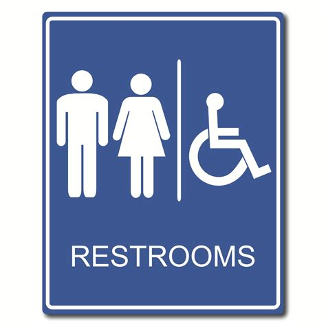 bathroom signs image gallery rest room