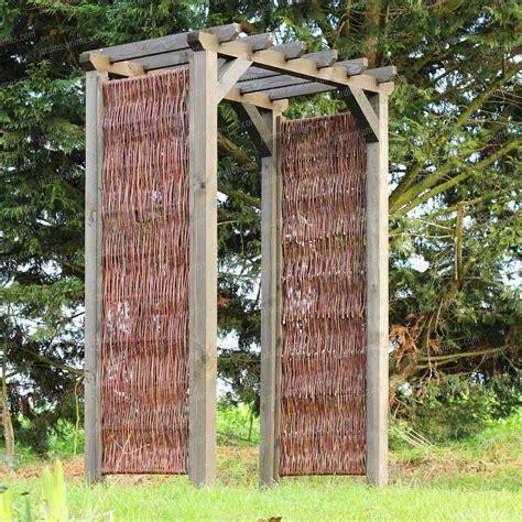 arche pergola en osier et pin fsc mobilier de jardin