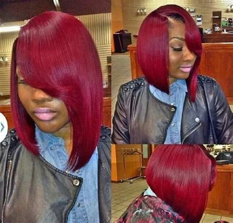 long bobs in the back on black people red asymmetrical bob hairstyles looking for styles to try