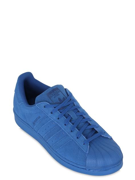 adias sneakers adidas originals superstar adicolor suede sneakers in blue