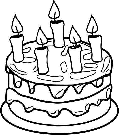 coloring happy birthday cakes candles pages birthday cake candle coloring page wecoloringpage