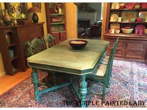 Chalk Paint Dining Room Table Florence Chalk Paint 174 Dining Room Table By Indigo Tones The Purple Painted