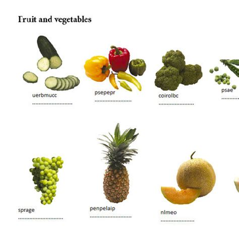 fruit unscramble unscramble the fruit vegetables