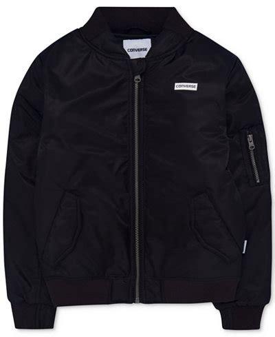 Jaket Convers Line converse zip bomber jacket big boys coats jackets baby macy s