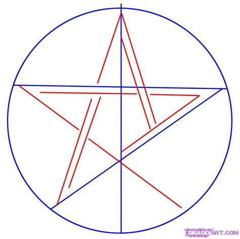 doodle pentagram how to draw a pentagram step by step symbols pop