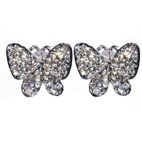 swarovski butterfly p 1132 butterfly earrings silver butterfly earrings