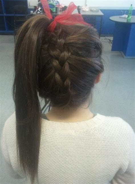 cute hairstyles for junior high dances braided high pony with a bow for cute gotsta get muh