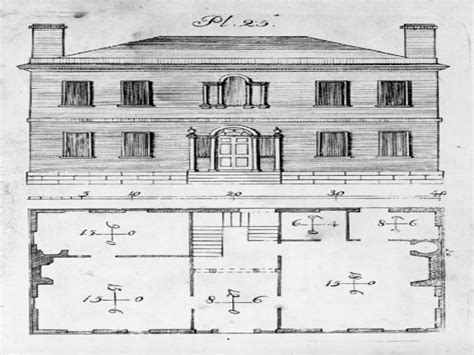 historic federal style house plans  house styles