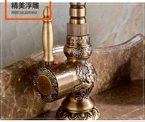 best rated brass single hole rotate vintage kitchen faucets brass kitchen faucet european antique faucet retro carved