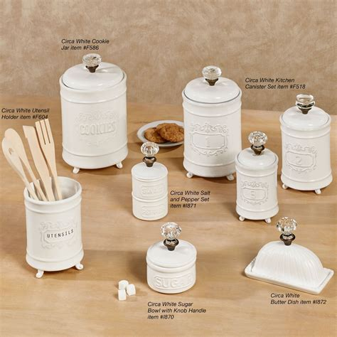 Old Fashioned Kitchen Canisters circa white ceramic kitchen canister set