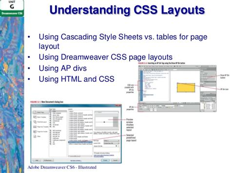 design html page using dreamweaver unit g adobe dreamweaver cs6