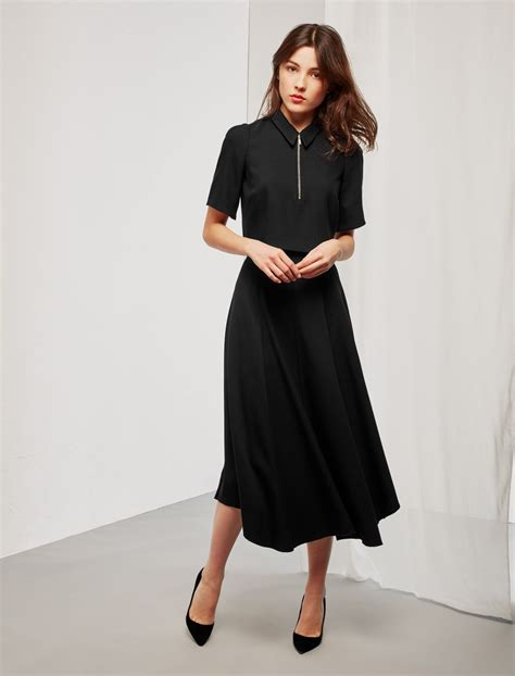 Midi Black midi skirt black fashion skirts