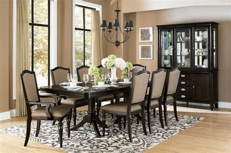 transitional dining room sets avilon pedestal dining table he 615 transitional dining