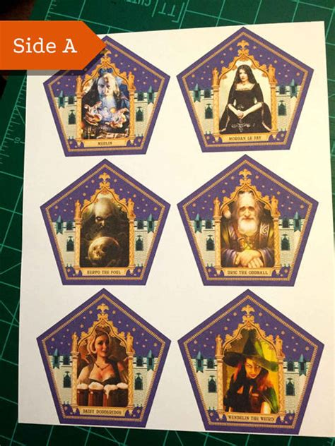 harry potter wizard card template honeyduke s chocolate frog cards