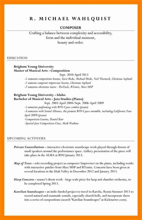 resume incomplete degree resume ideas
