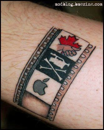 film strip tattoo photo maybe something like this in