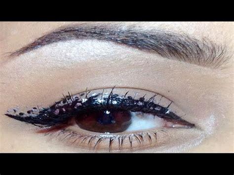 eyeliner tutorial dots grungy silver black polka dot eyeliner makeup tutorial